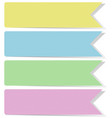 four banner templates without text vector image