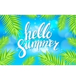 Hello Summer sea Party Flyer Design EPS 10 vector image