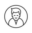 man circle avatar line icon sig vector image