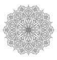 mandala design element coloring book vector image