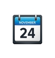 November 24 Calendar icon vector image