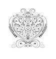 Openwork pattern in the form of heart vector image