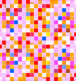 Seamless Retro Pink Squares Background - Pattern vector image
