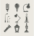 light bulb and lighting vector image
