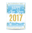 Happy New Year 2017 greeting card golden text and vector image