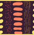 hand drawn stripes and spots seamless vector image
