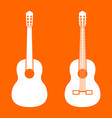 Guitar white icon vector image