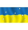 The Ukrainian flag with bullet holes vector image vector image