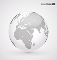 abstract dotted globe Central heating view on vector image