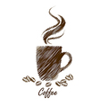 coffee cup3 vector image vector image