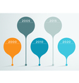 Timeline 3d Infographic 3 vector image