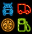 neon mechanic set vector image vector image