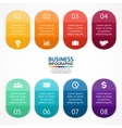 color stickers and labels infographic vector image