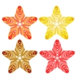 Starfishes isolated set EPS10 vector image