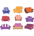 Set of chairs and armchairs vector image vector image