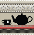Teapot and cups vector image vector image