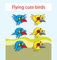 Bird game asset vector image