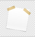blank paper frame isolated on transparent vector image