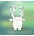 Hand-drawn angry deer with vector image