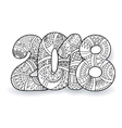 Happy New Year 2018 celebration number vector image