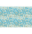 Seamless retro pattern of small flowers stars and vector image
