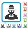 secret agent framed icon vector image