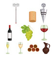 wine products growing grapes winevine vector image