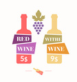 wine sticker vector image