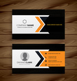 dark corporate business card vector image