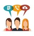 characters social media bubble speech vector image