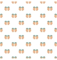 Hands in handcuffs pattern cartoon style vector image