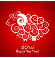 2015 Happy New Year background with sheep Year of vector image