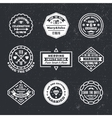 set of vintage wedding badges sings logos vector image vector image