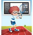 Tennis player in the field vector image