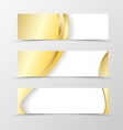 Set of banner smooth design vector image