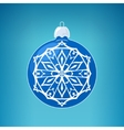 Blue Ball with Snowflake Merry Christmas vector image