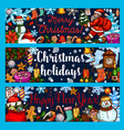 christmas winter holidays sketch banners vector image