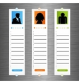 Contact banner set vector image