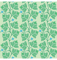 Green decorative leaves vector image