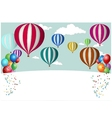 Hot Air Balloon Celebration vector image