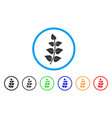 leaf branch rounded icon vector image
