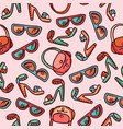 seamless pattern of woman fashion accessories vector image