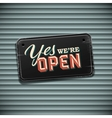 We are Open Sign - vintage sign with information vector image