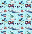 Seamless aircrafts vector image vector image