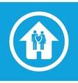 Family house sign icon vector image vector image