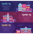 City life urban landscape banners vector image