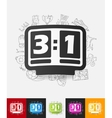 score board paper sticker with hand drawn elements vector image