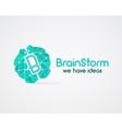 Brainstorm brain creation and idea logo template vector image