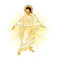 Resurrection of Jesus vector image vector image