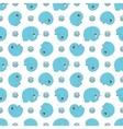 seamless pattern with blue cartoon elefants vector image